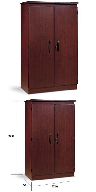 Armoires And Wardrobes 103430 Modern Royal Cherry Wood Armoire Wardrobe Organizer Storage Closet Furniture Set It Now Only 226 59 On Ebay