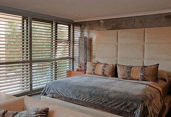Contemporary wooden shutters