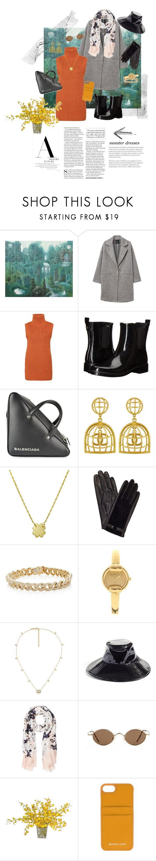 """""""Sweater Envy"""" by ninasinclair ❤ liked on Polyvore featuring MANGO, Tory Burch, Balenciaga, Vintage, Amanda Rose Collection, John Lewis, Sydney Evan, Gucci, Eric Javits and Witchery"""