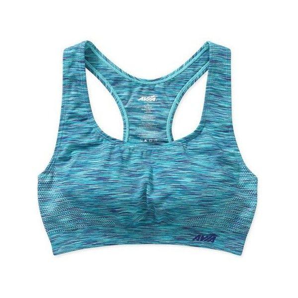 Avia Women's Seamless Sport Bra Walmart.com ❤ liked on Polyvore featuring activewear, sports bras, blue sports bra and seamless sports bra