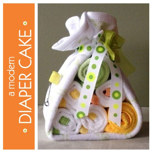 Modern Spin on a Diaper Cake: Cakes Ideas, Baby Shower Diapers, Baby Shower Ideas, Cakes Tables, Diapers Cakes, Parties Ideas, Baby Showergift, Cakes Baby Showers, Baby Shower