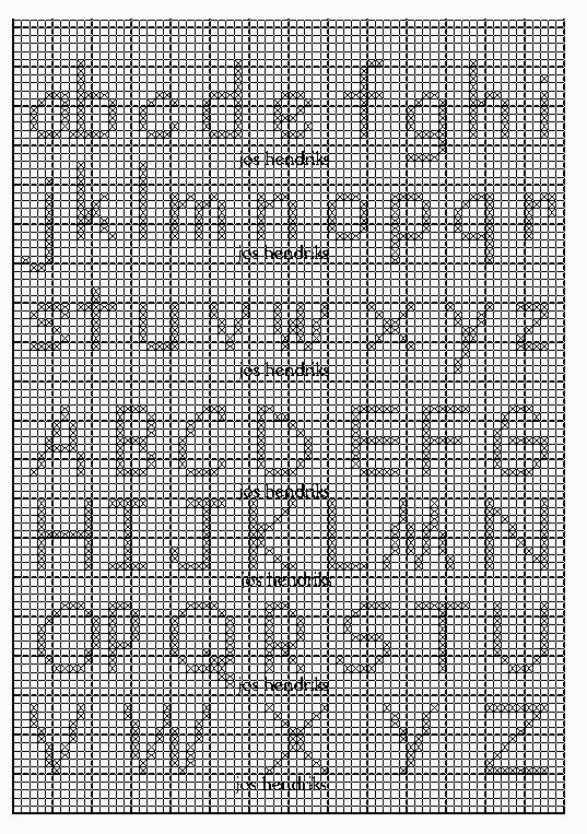 Kruissteek alfabet
