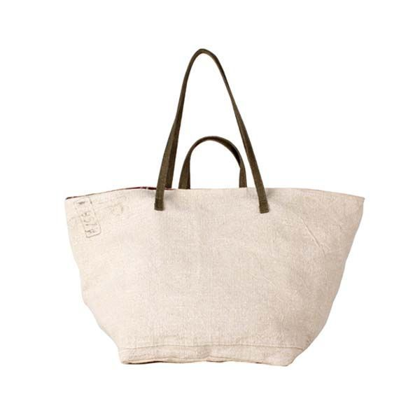 Large shopper bag with recycled military fabric by Giorgia
