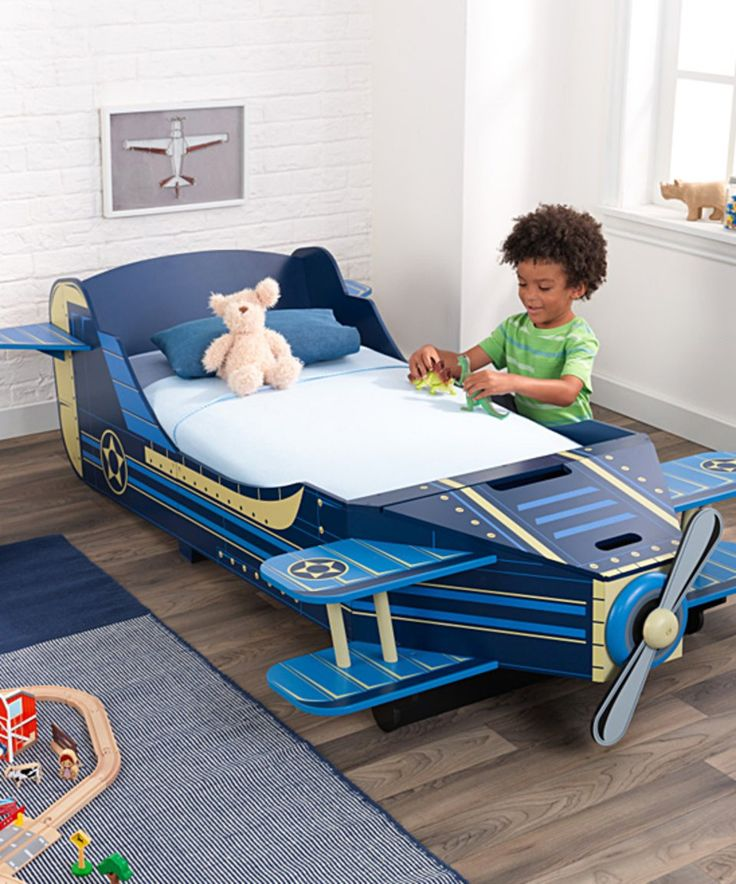 Blue Airplane Toddler Bed For The Boys Room By Kidcraft Home Kids Bedroom Furniture