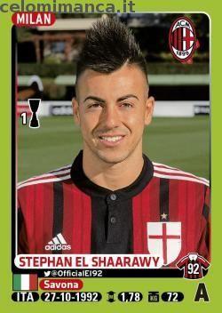 Calciatori 2014-2015: Fronte Figurina n. 308 Stephan El Shaarawy