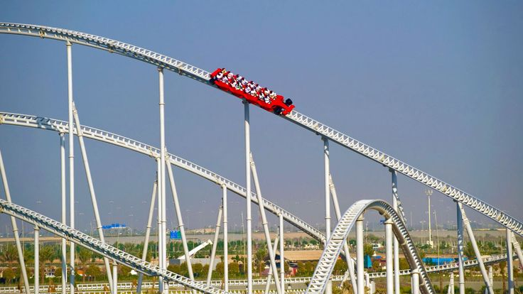 Ferrari World, YasIsland An amusement park in Abu Dhabi that has some of the biggest and thrilling rides of the world.