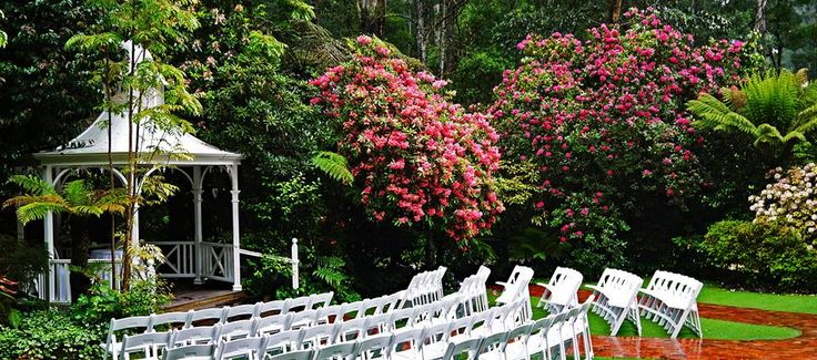 Lyrebird Falls Reception Stunning Gazebo, one of two options for your beautiful  ceremony!