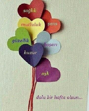 Sağlık, mutluluk, şans, güzellik, başarı, huzur, aşk dolu bir hafta olsun... @oclskn71