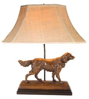 19 best dog lamps images on pinterest resin buffet lamps and regal setter dog lamp dark english oak mozeypictures Image collections