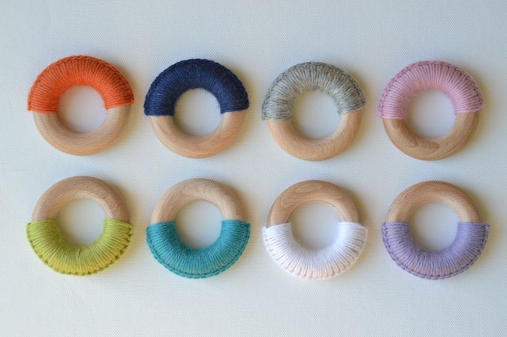 Wooden teething rings. Safe, natural, eco-friendly.