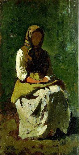 Cabianca, Vicenzo (1827-1902) - 1862 Study of a Woman (University of Siena, Italy)   par RasMarley