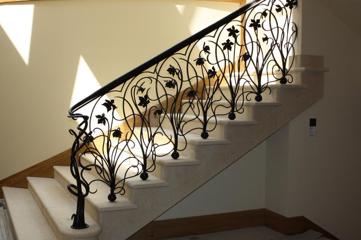 Art Nouveau 'Daffodil' wrought Iron balustrade...