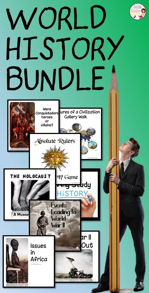 World War II Bundle - Buy lessons to start off your year and save! Purchase the bundle of World History activities for huge savings! In this bundle, you will receive all of my World History history lessons – from a Why Study History? to an activity on the Holocaust. Each of these lessons are designed for maximum engagement for your students.