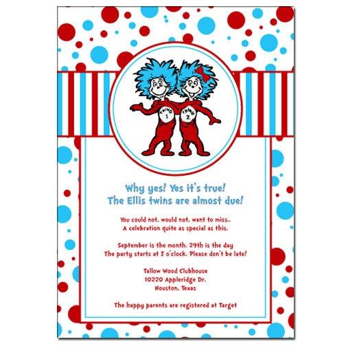 This Item Is Unavailable Thing 1 2 Birthday Invitation