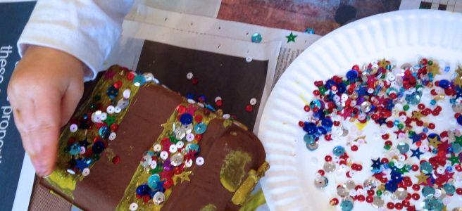 Jewel Encrusted Treasure Chests (egg box craft) - www.thewobblyjelly.wordpress.com
