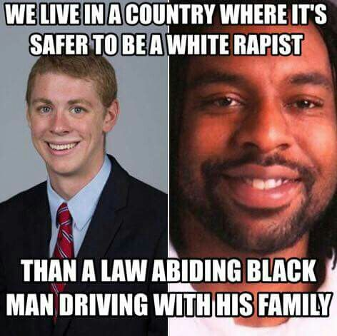 In the same span of time, I saw at least three cases where a white male raped a girl, admitted to it, and still got off the hook and was defended by the public AND the GIRL blamed, while at the same time also saw at least three cases where a black man who called the police himself for assistance, was shot dead on sight. If you go to the comments of this pin to argue and be an asshole, just don't. Your comment won't be there long. I have no tolerance for you anymore.