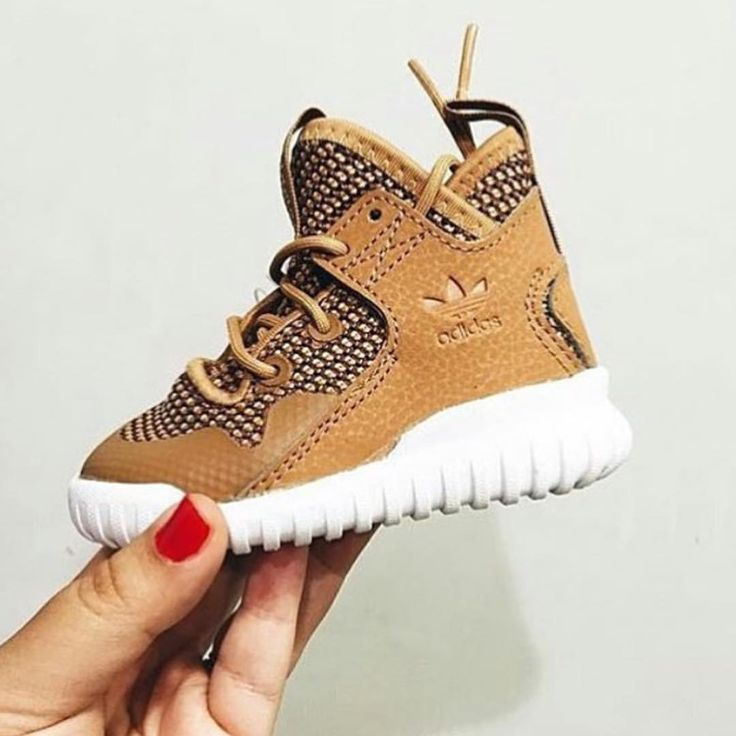 There is 1 tip to buy these shoes: kids fashion adidas high top sneakers  kids adidas kids fashion wheatadidas infant adidas brown adidas baby  sneakers ...