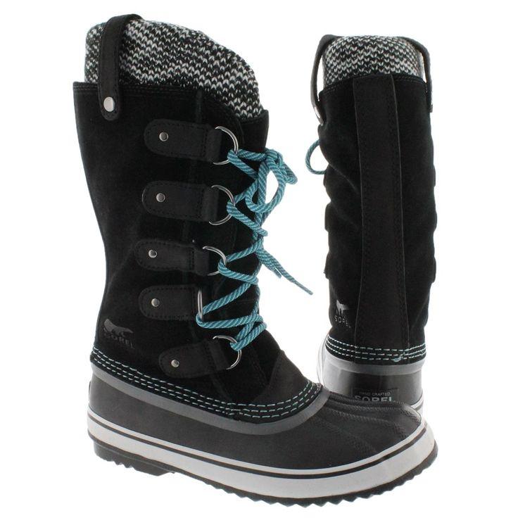 Sorel Women's JOAN OF ARCTIC KNIT black winter boots 1553291-010