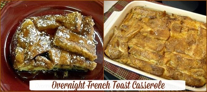 This Overnight French Toast Casserole would be perfect for Thanksgiving morning. Assemble tonight and bake in the morning. #thanksgivingbreakfast #frenchtoast