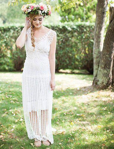 Lace Crochet Handmade Wedding Dress With Slight By CrochetByMel