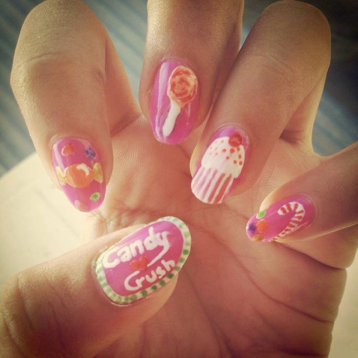 Candy crush nails!