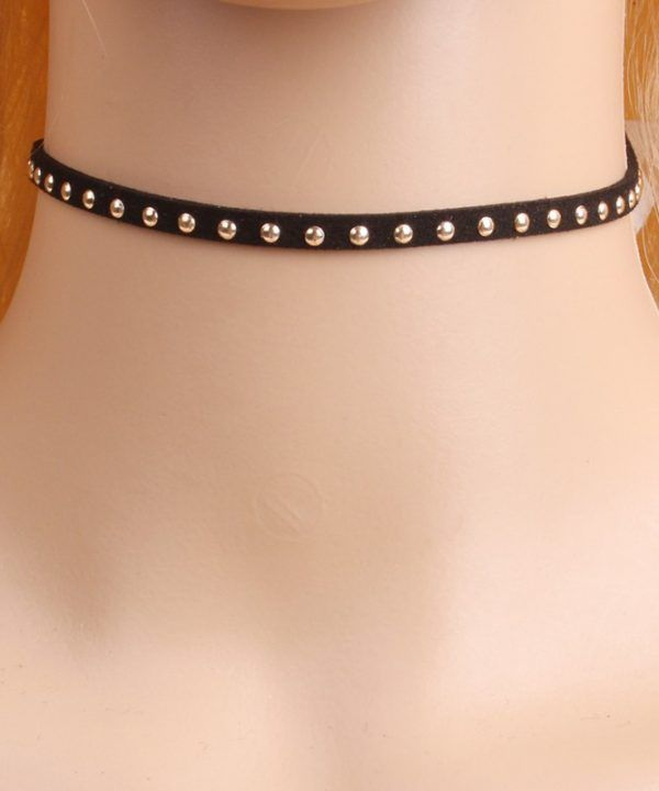 Black Velvet Gothic Choker Necklace