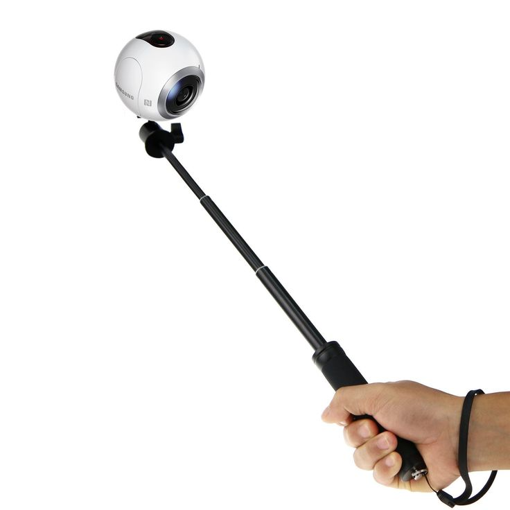 EEEKit Adjustable Extendable Telescopic Handheld Self Portrait Selfie Monopod Stick Pole and Wrist Strap for Samsung Gear 360 Camera. Taking pictures just got easier, See above the crowd and take amazing selfies of you and your friends. Extends up to 28 inch with adjustable ball head and thumb screw allowing multi angle shooting and 180 degree positioning. Steadily and securely, and extra comfort with the anti-slip rubber grip and wrist strap. Strong, durable and lightweight Aluminium…