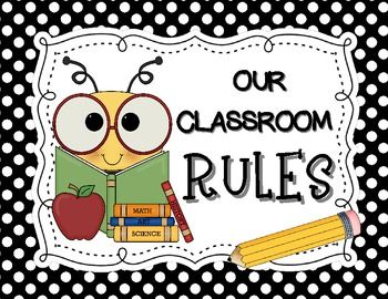 Bee Themed Classroom Rules Posters