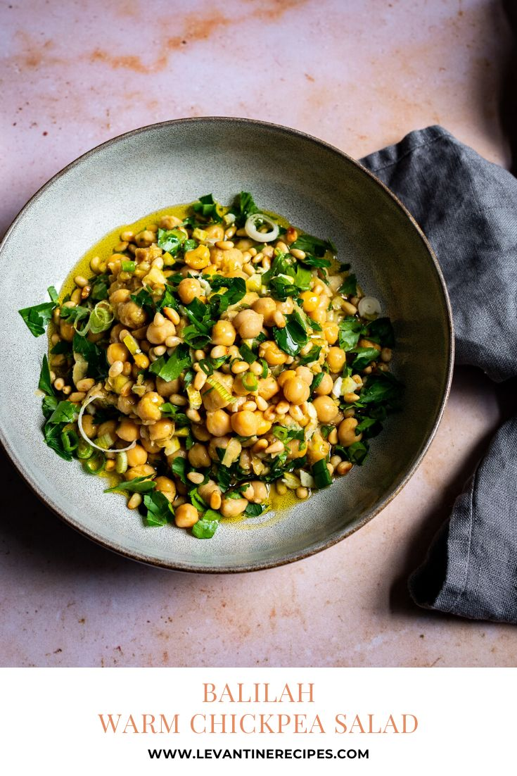 Jul 4, 2020 – Balilah is a delicious chickpea salad, served warm with freshly roasted chickpeas. A classic of Levantine…