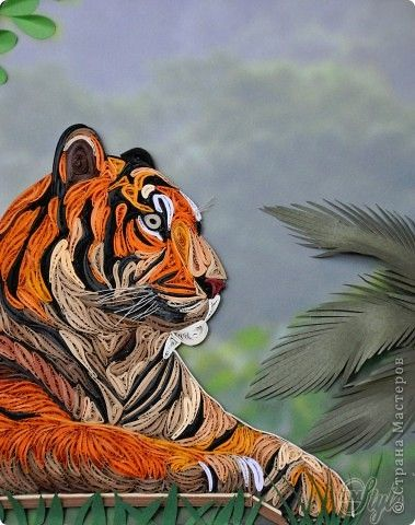 Schilderen Craft muurschildering tekening product februari 23 maart 8 Verjaardag Quilling Papier Quilling koning der dieren bandfoto 4