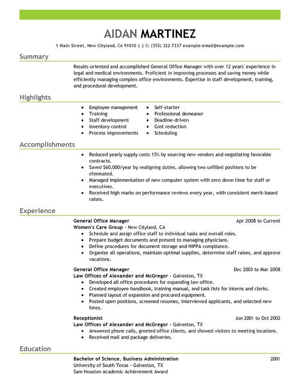 Resume Examples General Manager Firefighter Resume Resume Examples Manager Resume