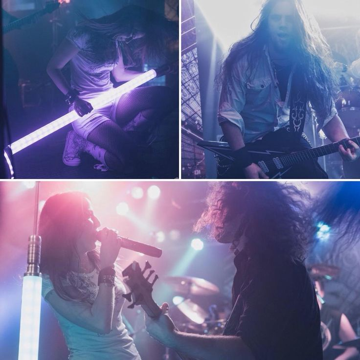 #aliatempora #singer #bassplayer #guitarist #growler #onstage #lightingmicstand #lightsaber #rockprincess #custommicstand #led #micstand #lighting #lights #saber #blue #pink #white #rock #metal #femalefronted #onstage #live #stage #show #lightsaber