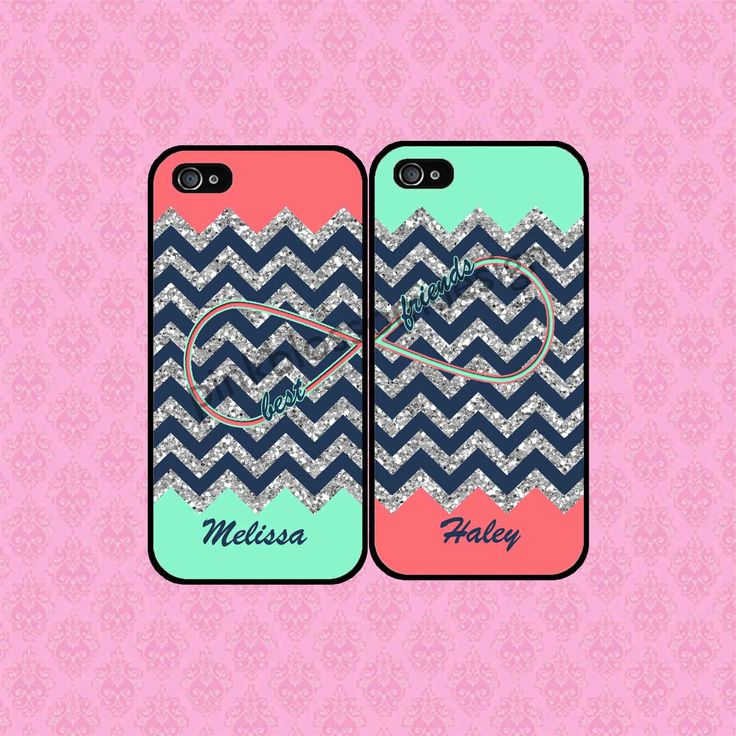 BEST FRIENDS PHONE CASES SHIPS FROM USA by KasiaKases on Etsy