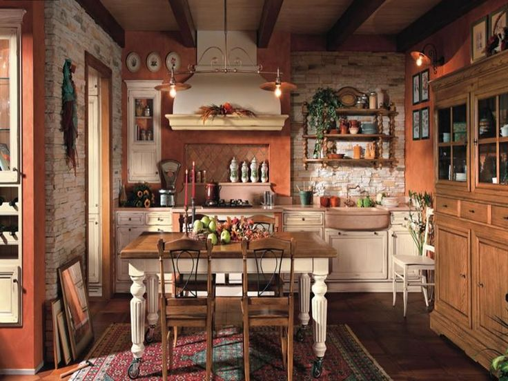 Vintage primitive kitchen designs related images of for Interieur maison de campagne