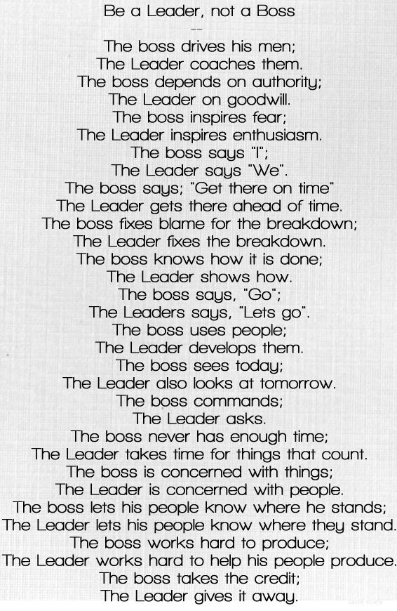 What Am I Poem Boss Leader Google Search Leadership