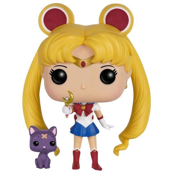 Statuetta decorativa Sailor Moon & Luna with Moon Stick del brand Funko collezione Pop!.