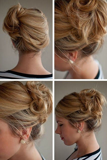 loose side french twist.