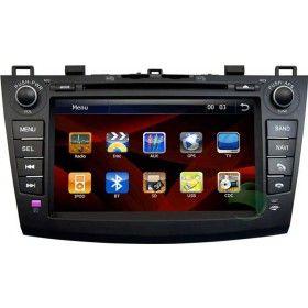 Tableau de Bord 8 pouces Ecran tactile Mazda 3 Nouveau Navigation GPS stéréo mise à niveau + DVD Radio Bluetooth TV Ipod