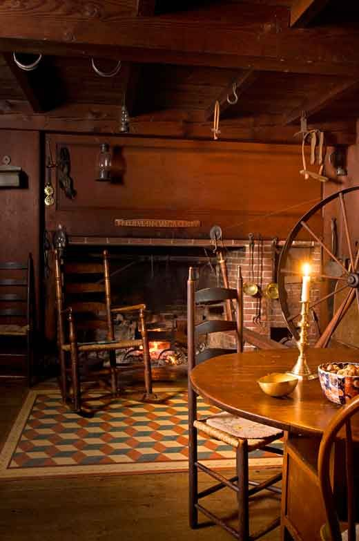 : Primitive Colonial Kitchens, Primitive Colonial Rooms, 18Th Century Capes, Spin Wheels, Originals Kitchens, Old Houses Online, Primitive Rockers, Fire Places, Colonial Style