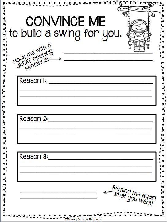 Persuasive essay worksheets for kids how to write script handwriting