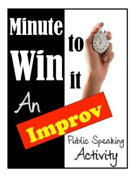 If you are teaching a public speaking unit on debate or argumentation, the Minute to Win It activity is a great way to introduce the unit! This activity gets students in front of the class and plead their case for ONE MINUTE.Oh, and they are completely in the dark to what their topic is until the clock starts counting down.The students get a little friendly competition while you get an easy assessment on their current debate/public speaking style during this fun assignment.