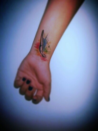 Paintbrush tattoo on left wrist!