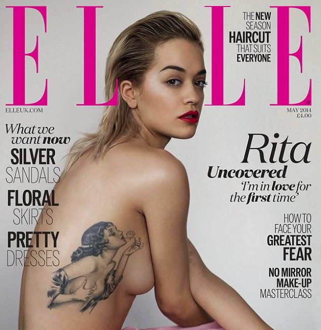 Rita Ora Strips for Sexy Elle Cover, Reveals Meaning Behind Pinup Girl Tattoo http://www.popstartats.com/rita-ora-tattoos/elle-cover-reveals-meaning-behind-pinup-girl-tattoo/