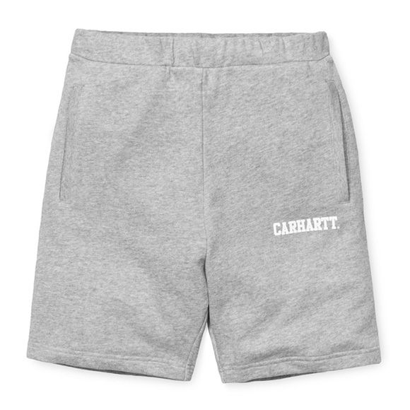 Carhartt WIP Sweat Short - Grey Heather / White