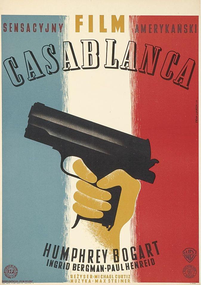 :: Casablanca, 1942  Design by Eryk Lipinski, Poland, 1947 ::