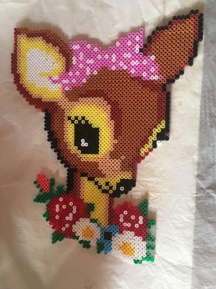 Bambi lavet af hama perler Beads