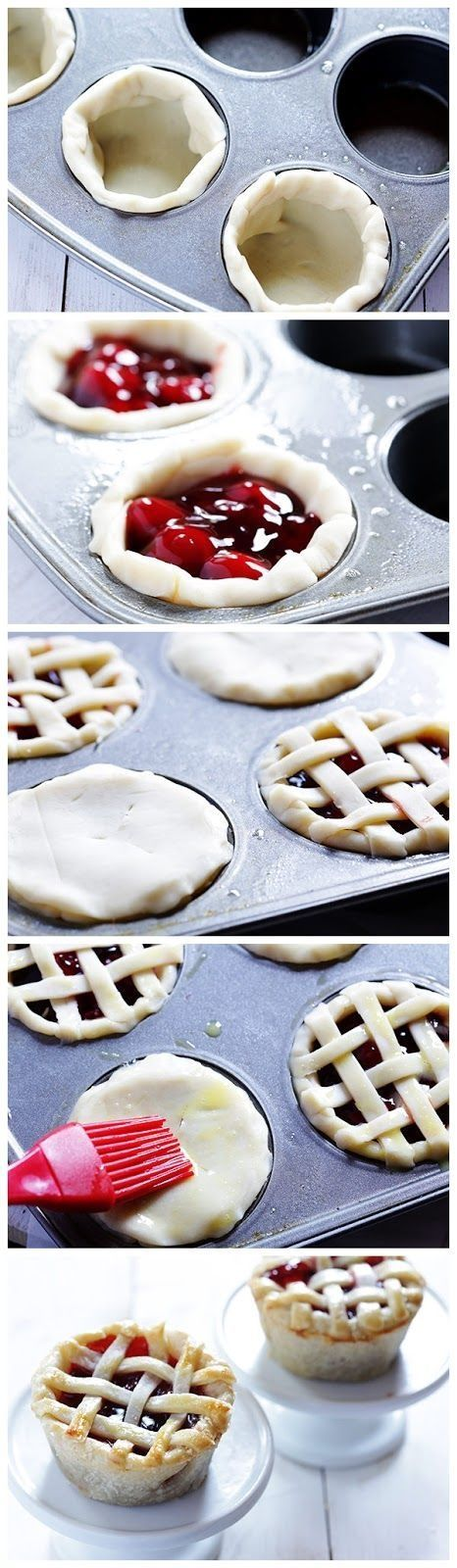 DIY Mini Pies baking recipe pies recipes ingredients instructions desert recipes easy recipes desert recipe