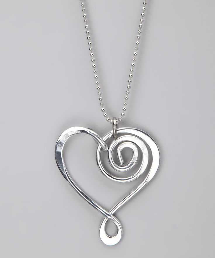 Silver Large Heart Pendant Necklace | Daily deals for moms, babies and kids
