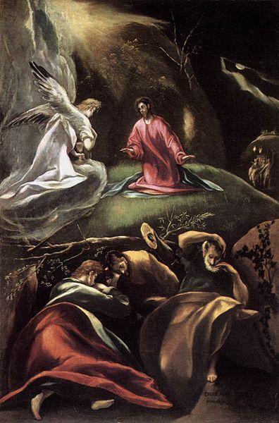 La oración del huerto. Doménikos Theotokópoulos. MDCVII