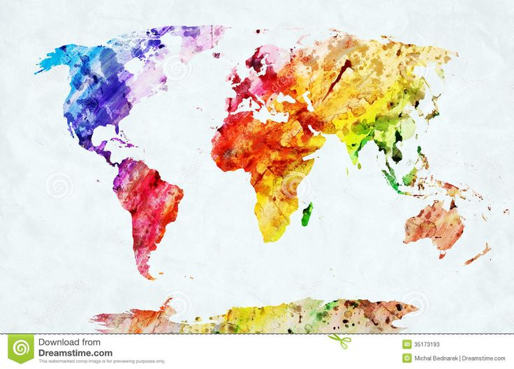Vector World Map Watercolor Royalty Free Stock Images - Image ...